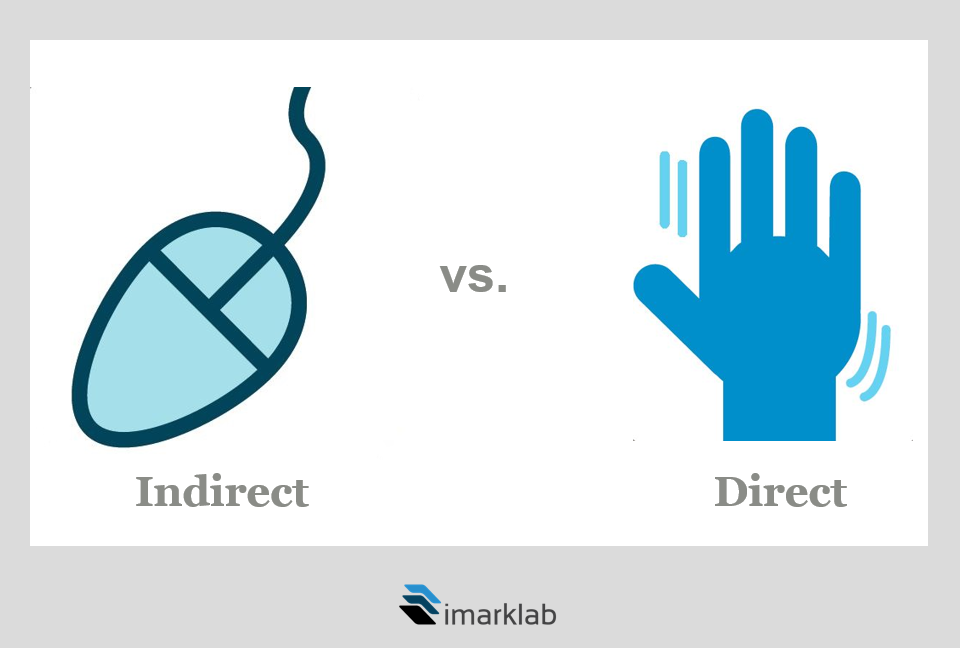 Souris vs touch screen_direct vs indirect