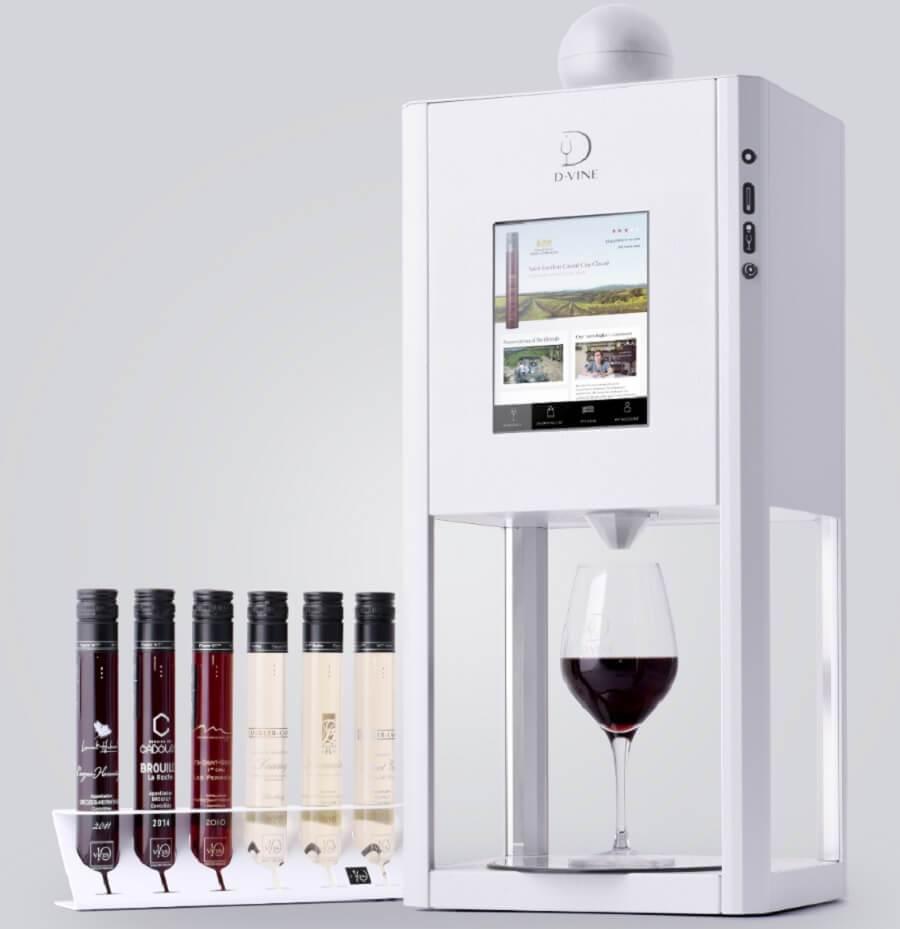 Bar à vin connecté D-Vine