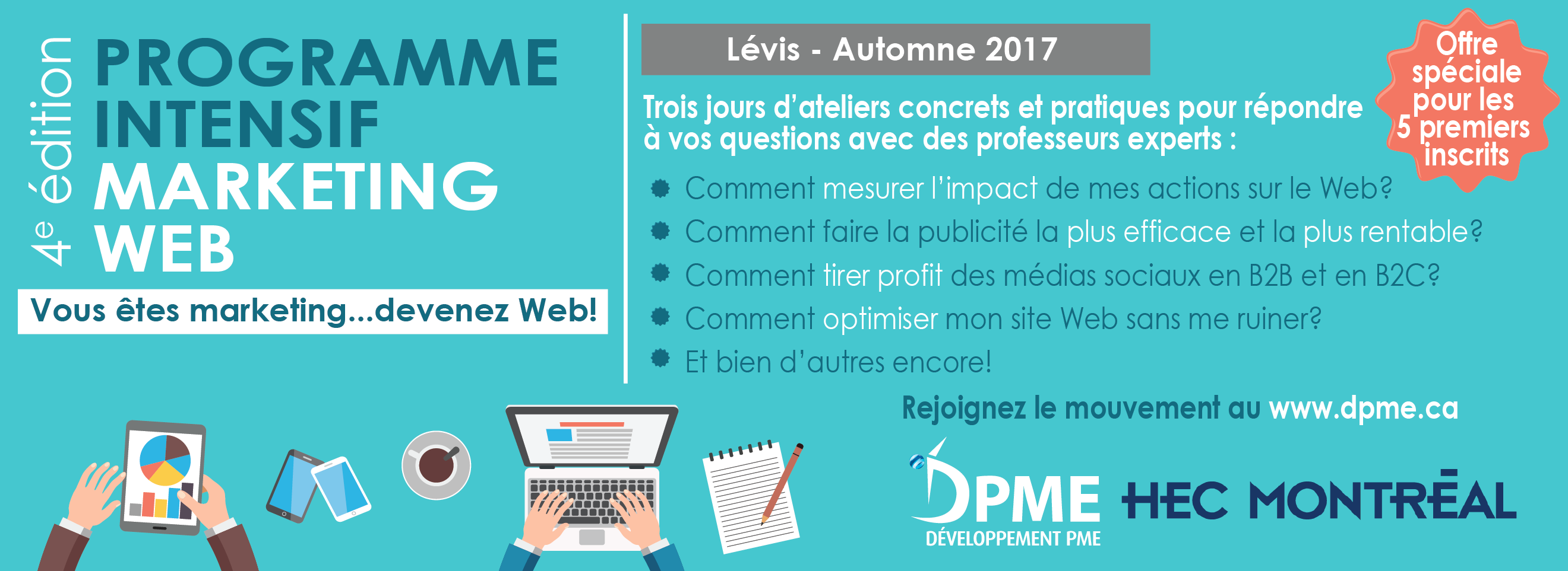 Programme intensif marketing Web offert par la DPME et HEC Montréal