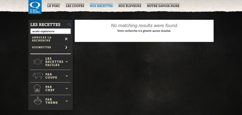 Quebec's Pork website